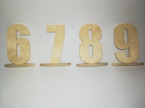 Numery na stolik weselny